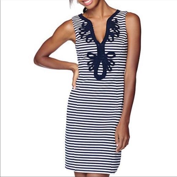 LILY PULITZER Janice Striped Shift Dress Small